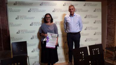 Giovanna Zerbo col presidente dell'Enoteca Regionale di Ovada Mario Arosio, alla presentazione dell'evento