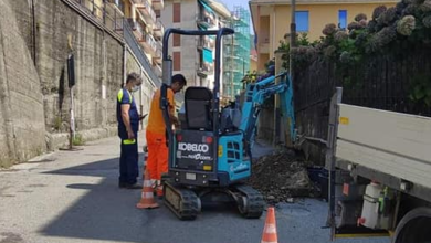 Photo of Campo Ligure: lavori in corso in via Cascinazza