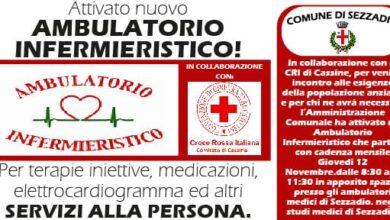 Photo of Sezzadio: servizio di ambulatorio infermieristico