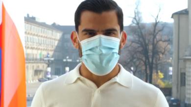 Photo of Tomas Rincon al fianco della Regione Piemonte nella campagna sull'uso della mascherina