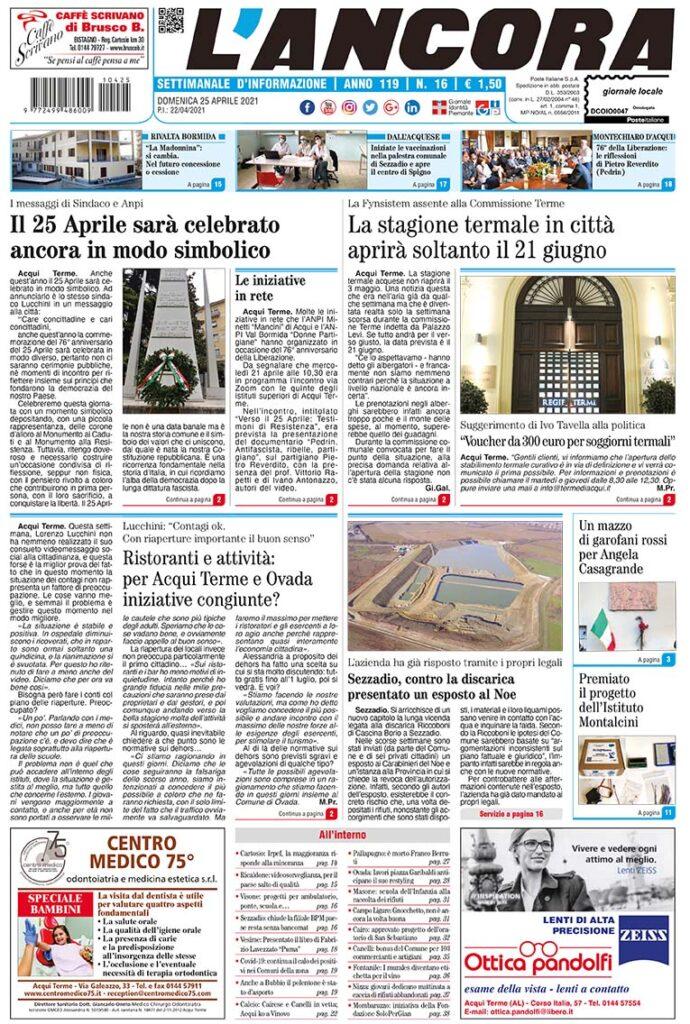 prima pagina num.16/2021