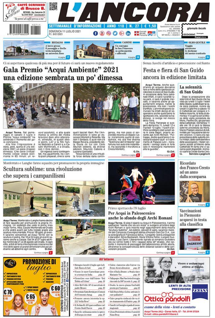 prima pagina num. 27/2021