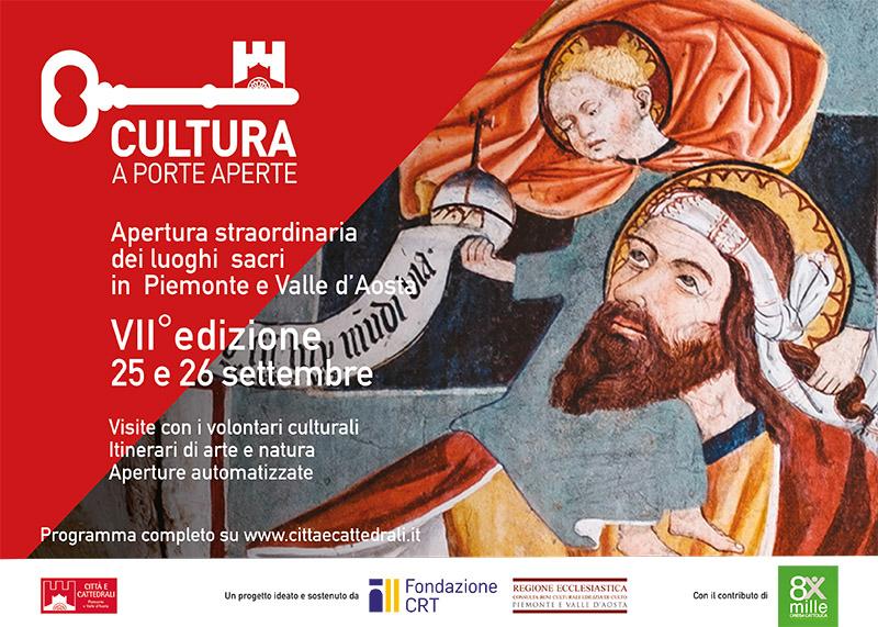 evento chiese porte aperte che si svolgerà il 25/26 settembre in Piemonte e valle d'Aosta